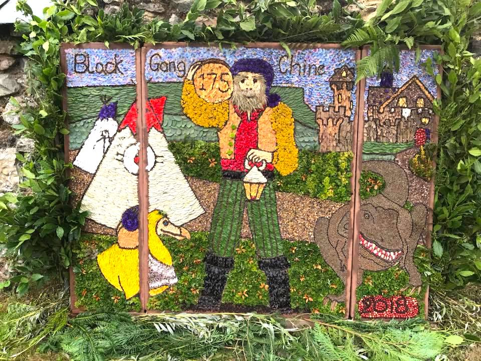 Whitwell well dressing 2018. Photo by Sarah Dologhan